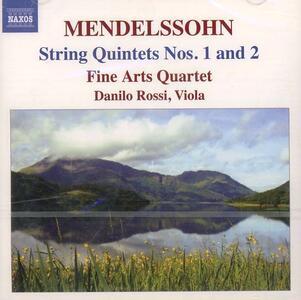 Quintetti per archi - CD Audio di Felix Mendelssohn-Bartholdy,Fine Arts Quartet,Danilo Rossi