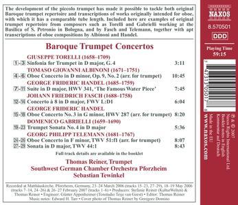 Baroque Trumper Concertos - CD Audio - 2