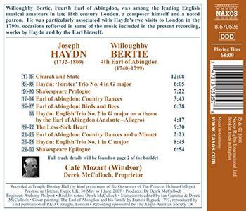 The Earl of Abingdon. Canzoni e musica da camera - CD Audio di Franz Joseph Haydn