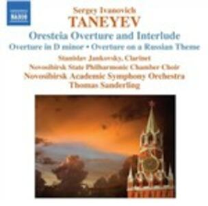 Oresteia. Ouverture e interludio - CD Audio di Sergei Ivanovich Taneyev,Thomas Sanderling