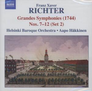 Grandi sinfonie n.7 n.8,n .9,n .10, n.11, n.12 - CD Audio di Franz Xaver Richter