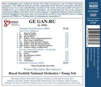 Shanghai Reminiscences - Butterfly Overture - CD Audio di Ge Gan-Ru - 2
