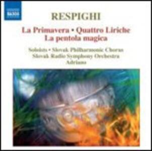 La Primavera - Quattro liriche - La pentola magica - CD Audio di Ottorino Respighi