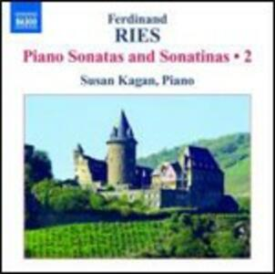 Sonate e sonatine per pianoforte vol.2 - CD Audio di Ferdinand Ries,Susan Kagan