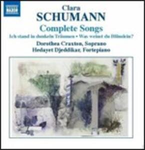 Lieder - CD Audio di Clara Schumann,Dorothea Craxton,Hedayet Djeddikar
