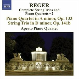 Trio op.141 - Quartetto con pianoforte op.133 - CD Audio di Max Reger,Aperto Piano Quartet