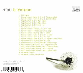 Handel for Meditation - CD Audio di Georg Friedrich Händel