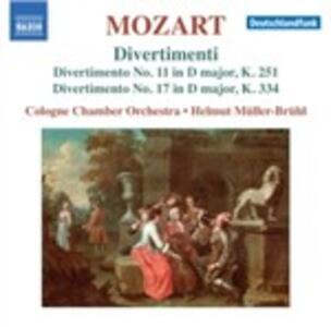 Divertimenti n.11, n.17 - CD Audio di Wolfgang Amadeus Mozart