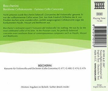 Famous Sonate per Violoncello - CD Audio di Luigi Boccherini