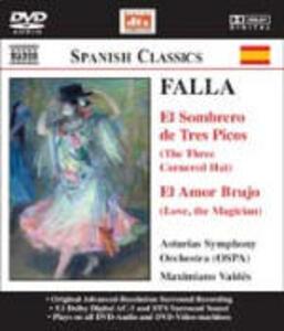 El amor brujo - Il cappello a tre punte (El sombrero de tres picos) - DVD Audio di Manuel De Falla