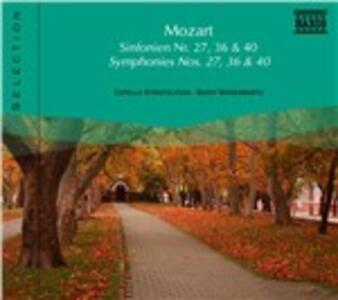Sinfonie n.27, n.36 - CD Audio di Wolfgang Amadeus Mozart