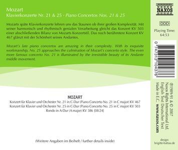 Concerti per Pianoforte No. 21 - CD Audio di Wolfgang Amadeus Mozart - 2