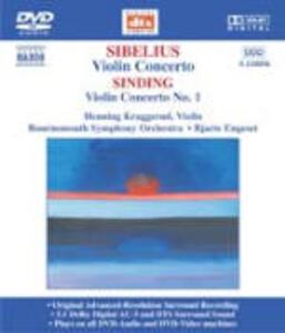Concerto per violino - Serenata op.69 / Concerto per violino n.1 - DVD Audio di Jean Sibelius,Christian Sinding