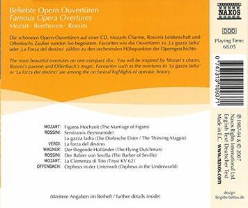 Famous Opera Overtures - CD Audio