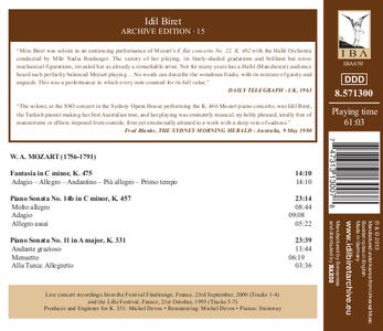 Idil Biret Archive Editio - CD Audio di Wolfgang Amadeus Mozart - 2