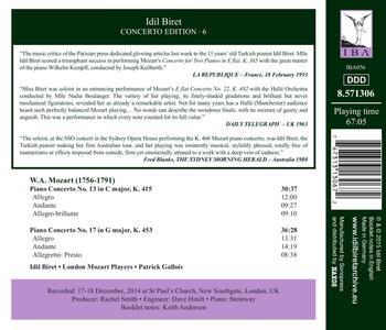 Concerti per pianoforte n.13 K415, n.17 K453 - CD Audio di Wolfgang Amadeus Mozart,Patrick Gallois - 2