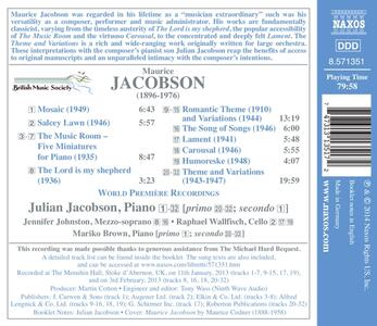 The Music Room e altre opere cameristiche - CD Audio di Raphael Wallfisch,Maurice Jacobson - 2