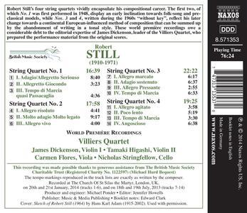 Quartetti per archi - CD Audio di Robert Still - 2