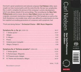 Sinfonie N.5, N.6 - CD Audio di Carl August Nielsen - 2