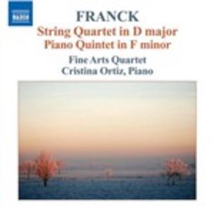 Quartetto per archi - Quintetto con pianoforte - CD Audio di César Franck,Cristina Ortiz,Fine Arts Quartet
