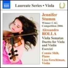 Sonate per viola n.1, n.2 - Duetto per violino e viola n.1 - Esercizi - CD Audio di Alessandro Rolla,Jennifer Stumm