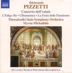 Concerto dell'estate - Festa delle Panatenee - CD Audio di Ildebrando Pizzetti,Myron Michaildis,Thessaloniki State Symphony Orchestra