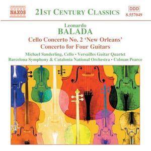 Concerto per violoncello - Concerto per 4 chitarre - Celebración - Passacaglia - CD Audio di Leonardo Balada
