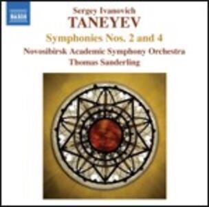 Sinfonie n.2, n.4 - CD Audio di Sergei Ivanovich Taneyev,Thomas Sanderling