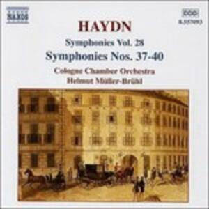 Sinfonie n.37, n.38, n.39, n.40 - CD Audio di Franz Joseph Haydn