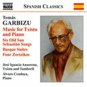 Musica per txistu e pianoforte - CD Audio di Tomas Garbizu
