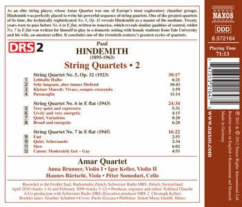 Quartetti per archi vol.2 - CD Audio di Paul Hindemith - 2