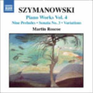 Opere per pianoforte vol.4 - CD Audio di Karol Szymanowski