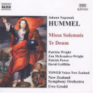 Missa Solemnis - Te Deum - CD Audio di Johann Nepomuk Hummel