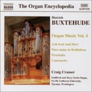 Opere per organo vol.4 - CD Audio di Dietrich Buxtehude,Craig Cramer