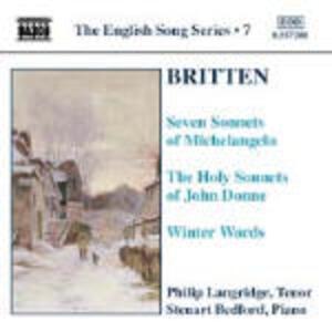 Liriche - CD Audio di Benjamin Britten,Philip Langridge