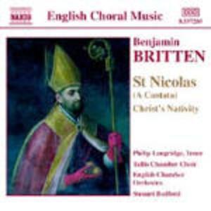 St. Nicholas - Christ's Nativity - Salmo 150 - CD Audio di Benjamin Britten