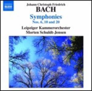 Sinfonie n.6, n.10, n.20 - CD Audio di Johann Christoph Friedrich Bach