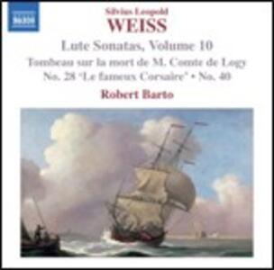 Sonate per liuto vol.10 - CD Audio di Sylvius Leopold Weiss,Robert Barto