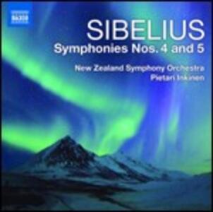 Sinfonie n.4, n.5 - CD Audio di Jean Sibelius,New Zealand Symphony Orchestra,Pietari Inkinen