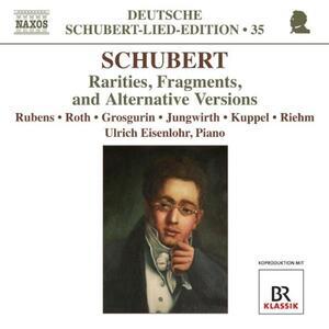 Lieder: Frammenti, rarità, versioni alternative - CD Audio di Franz Schubert