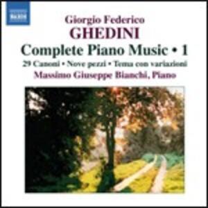 Opere per pianoforte vol.1 - CD Audio di Giorgio Federico Ghedini