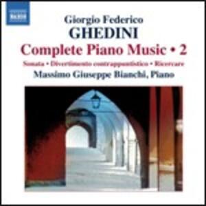 Opere per pianoforte vol.2 - CD Audio di Giorgio Federico Ghedini