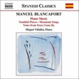Musica per pianoforte vol.1 - CD Audio di Manuel Blancafort