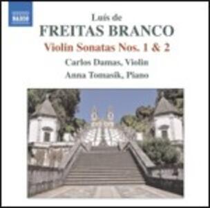 Sonata per violino n.1, n.2 - Prélude - CD Audio di Luis de Freitas Branco,Carlos Damas