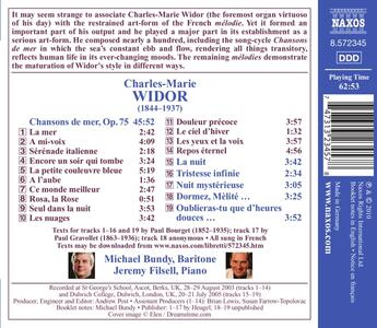 Songs - CD Audio di Charles-Marie Widor - 2