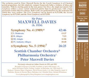 Sinfonie n.4, n.5 - CD Audio di Sir Peter Maxwell Davies - 2