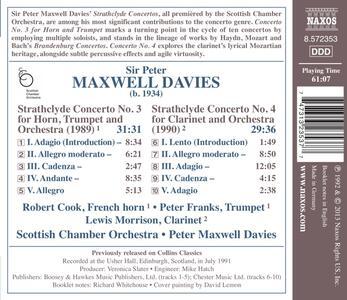 Strathclyde Concertos n.3, n.4 - CD Audio di Sir Peter Maxwell Davies - 2