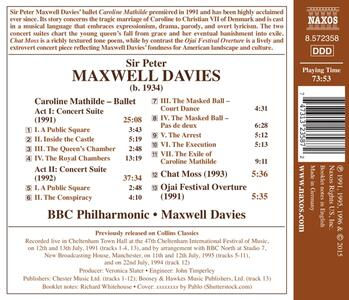 Suite dal balletto Caroline Mathilde - Chat Moss - Ojai Festival Overture - CD Audio di Sir Peter Maxwell Davies - 2