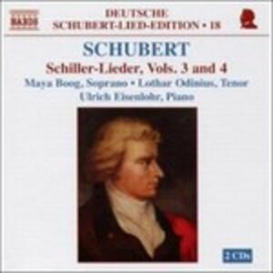 Deutsche Schubert Lied Edition vol.18: Schiller Lieder vol.3, vol.4 - CD Audio di Franz Schubert