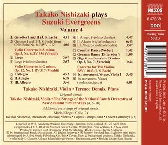 Suzuki Evergreens Vol.4 - CD Audio - 2